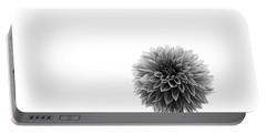 Dahlia In Black And White 2 Portable Battery Charger by Mark Alder