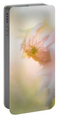 Dahlia In The Soft Morning Mist Portable Battery Charger