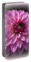 Dahlia Lovely In Lavender Portable Battery Charger by Dora Sofia Caputo Photographic Art and Design