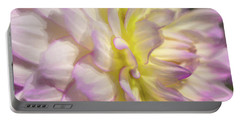 Dahlia Study 5 Painterly  Portable Battery Charger