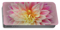 Portable Battery Charger featuring the photograph Dahlia With Pink Texture by Mary Jo Allen