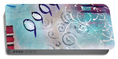 Portable Battery Charger featuring the painting Daily Abstract Two by Suzzanna Frank