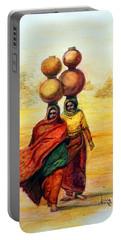 Daily Desert Dance Portable Battery Charger by Alika Kumar