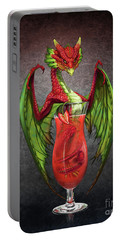 Portable Battery Charger featuring the digital art Daiquiri Dragon by Stanley Morrison