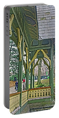 Portable Battery Charger featuring the photograph Dairy Cottage Porch by Sandy Moulder