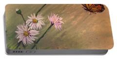 Daisies And Butterfly Portable Battery Charger