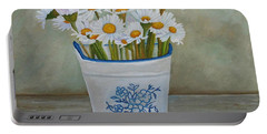 Daisies And Porcelain Portable Battery Charger