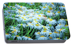 Portable Battery Charger featuring the photograph Daisies Galore by Tom Singleton