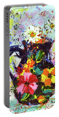 Daisies In The Portuguese Jug Portable Battery Charger by Lynda Cookson