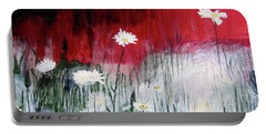 Daisies Portable Battery Charger by Mary Ellen Frazee