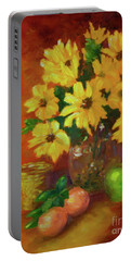 Daisies Of The Galaxy Portable Battery Charger