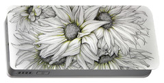 Sunflowers Pencil Portable Battery Charger