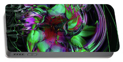 Daisy Abstract Portable Battery Charger by Elaine Hunter