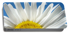 Daisy Art Prints White Daisies Flowers Blue Sky Portable Battery Charger
