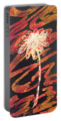 Portable Battery Charger featuring the painting Daisy by Elizabeth Mundaden