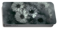 Daisy In Black And White Portable Battery Charger by Bonnie Willis