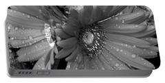 Daisy In The Rain Portable Battery Charger by James C Thomas