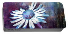 Portable Battery Charger featuring the mixed media Daisy by Jutta Maria Pusl