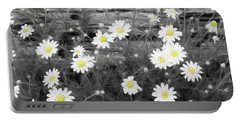 Portable Battery Charger featuring the photograph Daisy Patch by Benanne Stiens