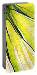 Daisy Petal Abstract In Lemon-lime Portable Battery Charger