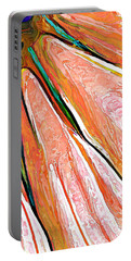 Daisy Petal Abstract In Salmon Portable Battery Charger