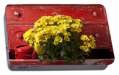 Daisy Plant In Drawers Portable Battery Charger by Garry Gay