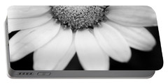 Daisy Smile - Black And White Portable Battery Charger