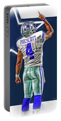 Dak Prescott Dallas Cowboys Oil Art Series 2 Portable Battery Charger
