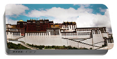 Portable Battery Charger featuring the photograph Dalai Lama Home Place. Potala Palace  Kailash Yantra.lv 2016 Tibet by Raimond Klavins