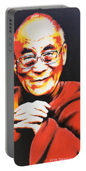 Dalai Lama Portable Battery Charger by Victor Minca