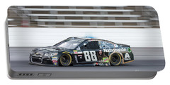 Dale Earnhardt Jr Running Hard At Texas Motor Speedway Portable Battery Charger