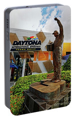 Portable Battery Charger featuring the photograph Dale Earnhardt Statue by Paul Mashburn
