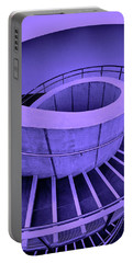 Dali Museum Staircase In Purple Portable Battery Charger