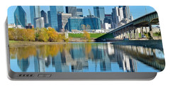 Dallas Above The Trinity River Portable Battery Charger by Frozen in Time Fine Art Photography