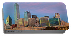Dallas At Dusk Portable Battery Charger by Frozen in Time Fine Art Photography