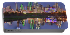 Dallas Blue Hour Portable Battery Charger by Frozen in Time Fine Art Photography