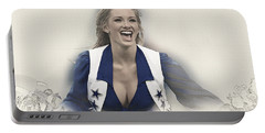 Dallas Cowboys Cheerleader Katy Marie Performs Portable Battery Charger