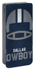 Dallas Cowboys Vintage Art Portable Battery Charger