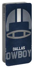 Dallas Cowboys Vintage Art Portable Battery Charger by Joe Hamilton