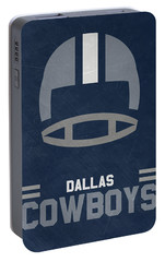 Dallas Cowboys Vintage Art Portable Battery Charger by Joe Hamilton