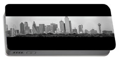 Portable Battery Charger featuring the photograph Dallas In Black And White by Jonathan Davison
