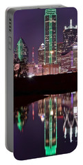 Dallas Lights Portable Battery Charger by Frozen in Time Fine Art Photography