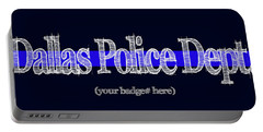 Dallas Police Dept. W Badge No. Portable Battery Charger