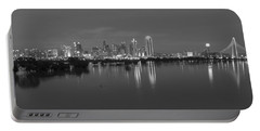 Dallas Skyline Trinity Black And White Portable Battery Charger