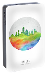 Dallas Skyline Ustxda20 Portable Battery Charger by Aged Pixel