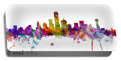 Dallas Texas Skyline Panoramic Portable Battery Charger
