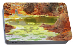 Dallol Volcanic Crater Portable Battery Charger by Aidan Moran