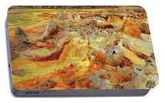 Dallol Volcanic Crater, Danakil Depression, Ethiopia Portable Battery Charger by Aidan Moran