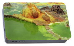 Dallol Volcanic Crater, Ethiopia Portable Battery Charger by Aidan Moran