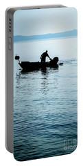 Dalmatian Coast Fisherman Silhouette, Croatia Portable Battery Charger